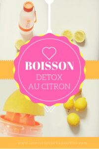 boisson d tox au citron comment purifier son corps au naturel une reine en chaussettes. Black Bedroom Furniture Sets. Home Design Ideas