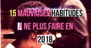 Une reine en chaussettes le blog de beauté naturelle des cheveux crépus 15 mauvaises habitudes a ne plus faire en 2018 blog