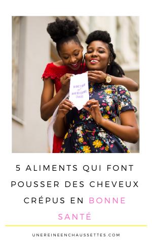 Pousse Pinterest 5 aliments qui font pousser les cheveux crépus en bonne santé une reine en chaussettes blog de beauté naturelle des cheveux crépus